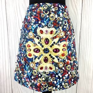 Dresses & Skirts - Jeweled Underwater Theme A-Line Lined Mini Skirt